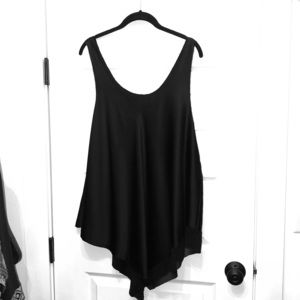 Eileen Fisher XL silk black tank